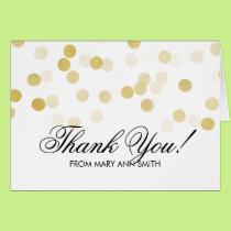 """Thank you"" 80th Birthday Gold Foil Glitter Lights Card"