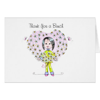 Thank You a bunch greeting card