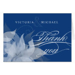 Thank You  Abstract Floral Fancy Script Greeting Card