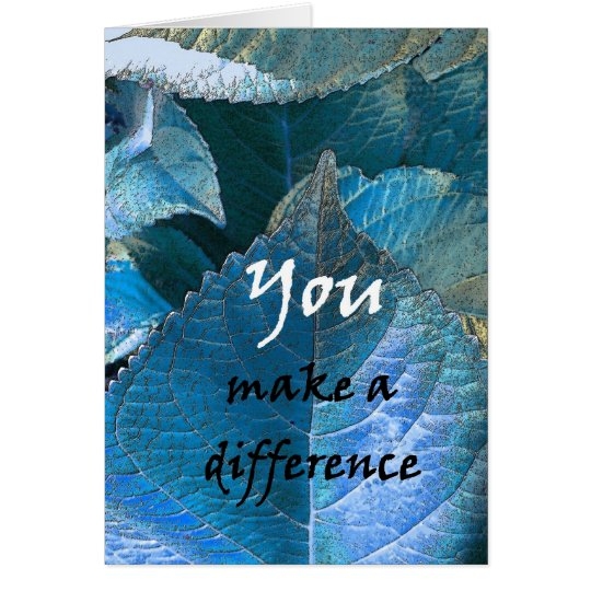 THANK YOU Admin Professionals Day BLUE LEAVES Card