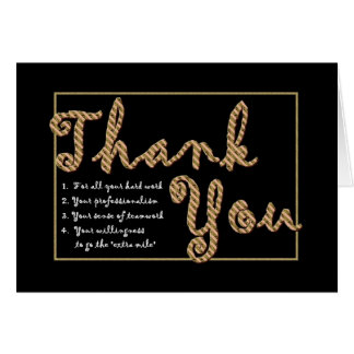 THANK YOU Admin Professionals Day BROWN Letters Card