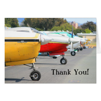 Thank You Airplanes greeting card