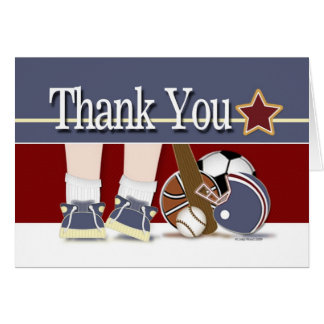 Thank You All Sports Baby Gifts Template Card