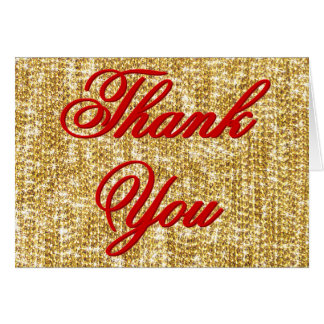 Thank You - All the Gold in the World - 2 lines Card