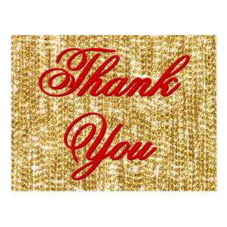 Thank You - All the Gold in the World Postcard
