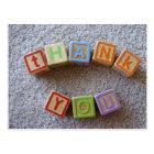 Thank You - Alphabet Blocks Postcard