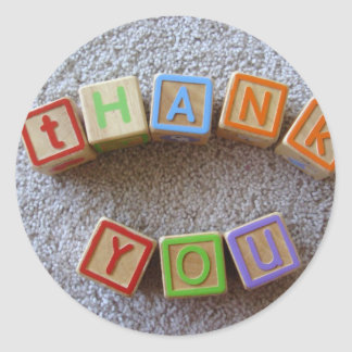 Thank You - Alphabet Blocks Stickers