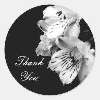 Thank You Alstroemeria Lily Sticker