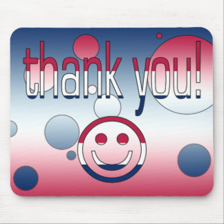 Thank You! America Flag Colors Pop Art Mouse Pad