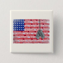 Thank You America Veterans Day Buttons