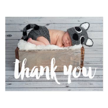 monogramgallery Thank You and Baby Birth Announcement Postcard