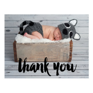 Thank You and Baby Birth Announcement Postcard