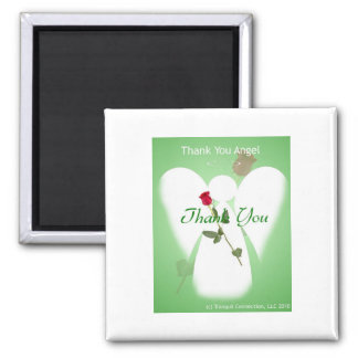 Thank you Angel 2 Inch Square Magnet