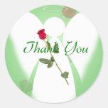 Thank you Angel Round Sticker