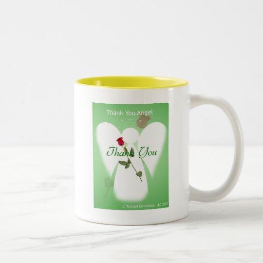 Thank you Angel Two-Tone Coffee Mug