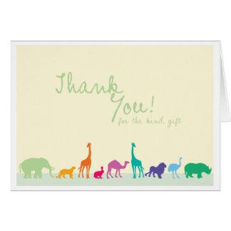 Thank you animals card_horizontal greeting card