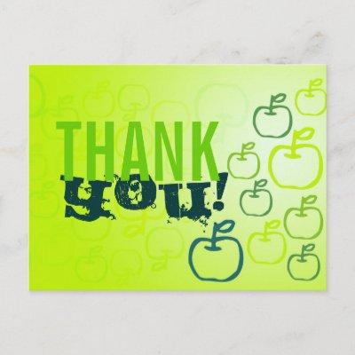 Thank You Apples Postcard postcard