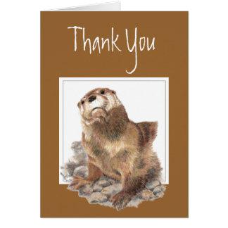 Thank You, Appreciation, Cute River Otter, Animal Card