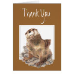 Thank You, Appreciation, Cute River Otter, Animal Greeting Card