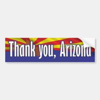 Thank you Arizona - Support Arizona Bumper Sticker