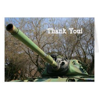 Thank You Army Tank greeting card