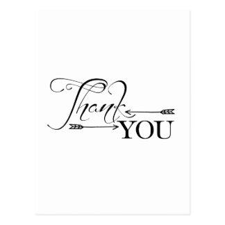 Thank You Arrows Postcard