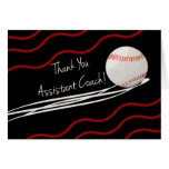 Thank You Assistant Coach, Fastball & Stitches Card