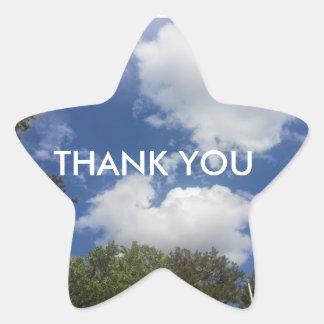 Thank You Astronomy Sky Cloud Scene Star Sticker