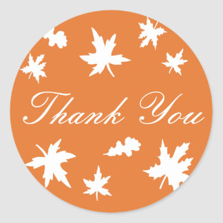 Thank You Autumn Leaves Envelope Sticker Seal