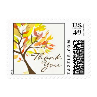 Thank You Autumn Tree Small Postage