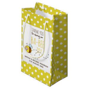 Thank You BA-BEE Baby Shower Yellow Polkadot Small Gift Bag