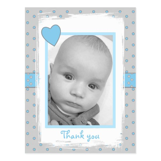 Thank you Baby Boy Photo Postcard
