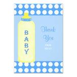 "Thank You Baby Boy Shower Flat 3.5 x 5 Card 3.5"" X 5"" Invitation Card"