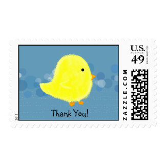 Thank You Baby Chick Postage Stamp