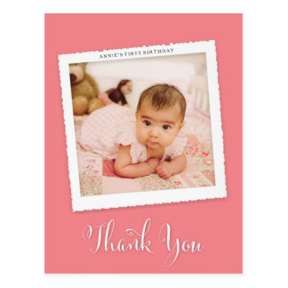 Thank You Baby Custom Color Photo Post Card