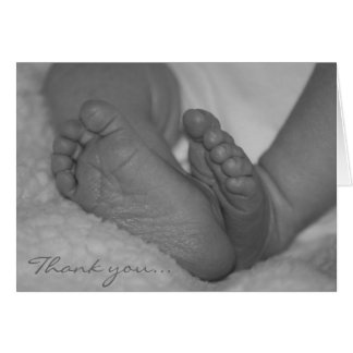 """Thank you..baby feet"" Card"
