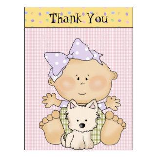 Thank You Baby fun postcard