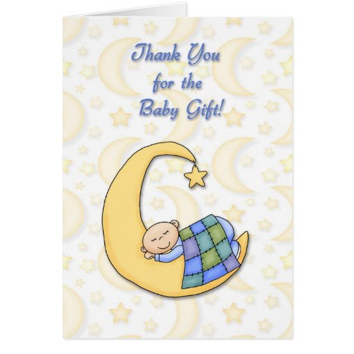 Baby Gift Card Thank You Note : Thank you baby gift card zazzle