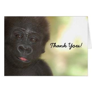 THANK YOU Baby Gorilla Card