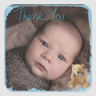 Thank You Baby Photo Sticker