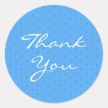Thank You Baby Shower Blue Sticker