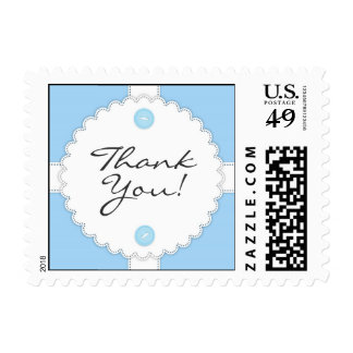Thank You Baby Shower Dantel Small Postage