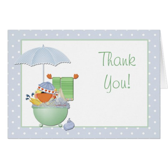 Thank You Baby Shower Duck Card