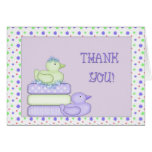 Thank You Baby Shower Ducks Stationery Note Card