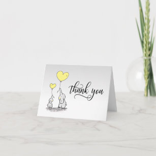 001 Thank You Birthday Party Baby Shower Bridal Party Thank You Cards Instant Download Yellow Grey Chevron