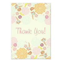 Thank You Baby Shower Fancy Modern Floral Invitation