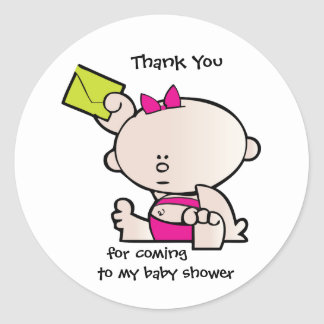 Thank You Baby Shower Gift Tag Sticker
