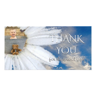 Thank You Baby Shower Photo | Daisy Flower Sky Card