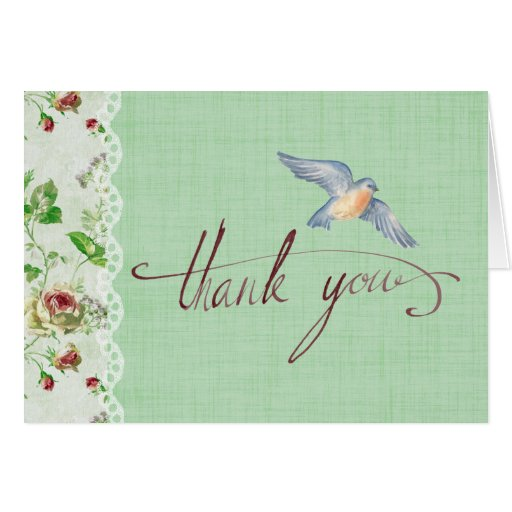 Thank You Background Calligraphy Card Zazzle