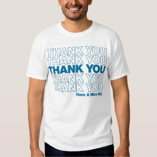 Thank You Bag Design - Blue T-Shirt